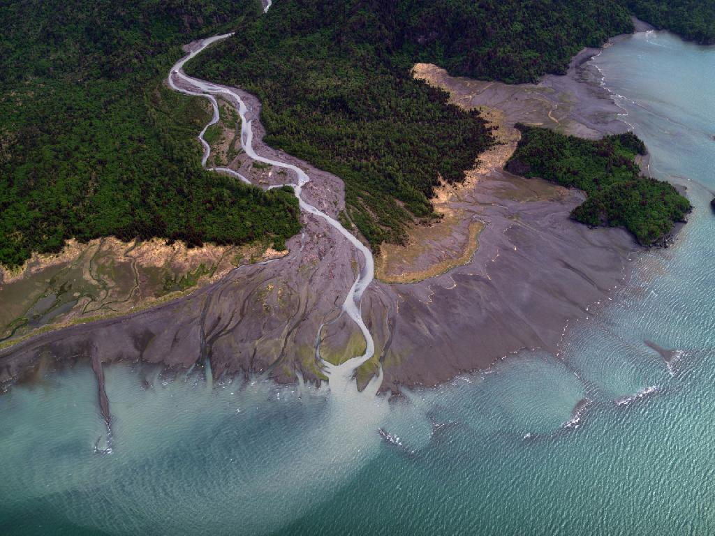 Aerial photo of Kachemak Bay Intertidal zone
