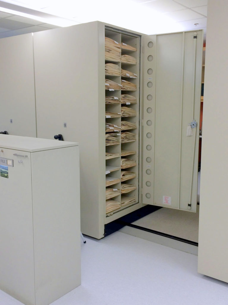 photo of herbarium cabinets