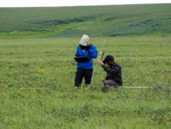 Anjanette Steer and Justin Fulkerson conducting research